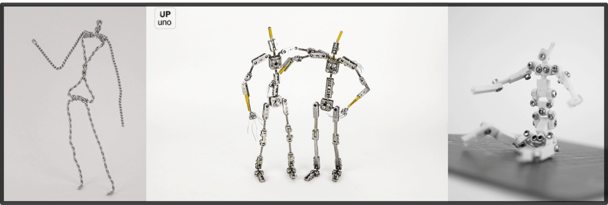 Armatures wire, ball and socket and 3D printed