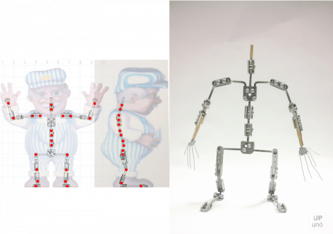 Bespoke stop motion armature for a adorable character.