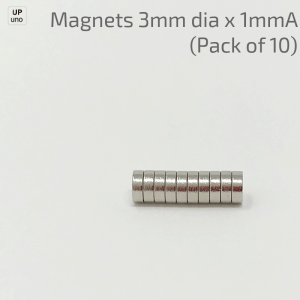 Neodymium Magnets 3mm dia x 1mmA (Pack of 10)