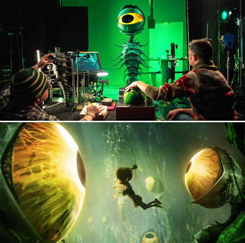 The making of the giant underwater Garden of Eyes from Kubo and the Two Strings Image by courtesy of Laika Studios