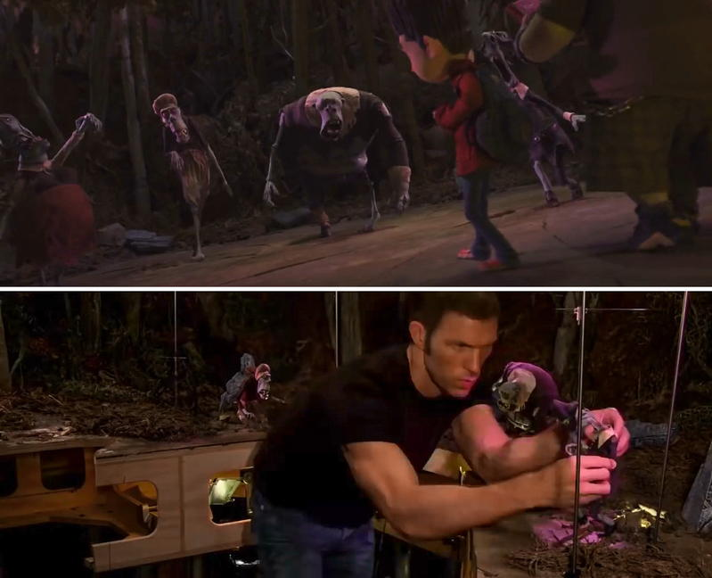 Travis Knight working on the cemetery scene for ParaNorman (2012) Image by courtesy of Laika Studios