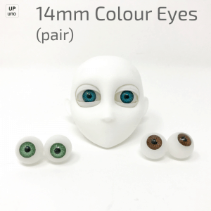 14mm Colour Eyes (pair)